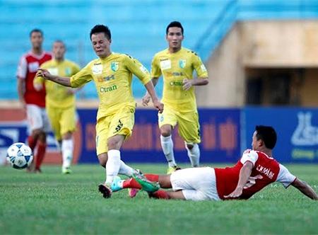 Hà Nội T&T có cửa lên đầu bảng sau trận thắng Đồng Nai, ảnh: Minh Phương