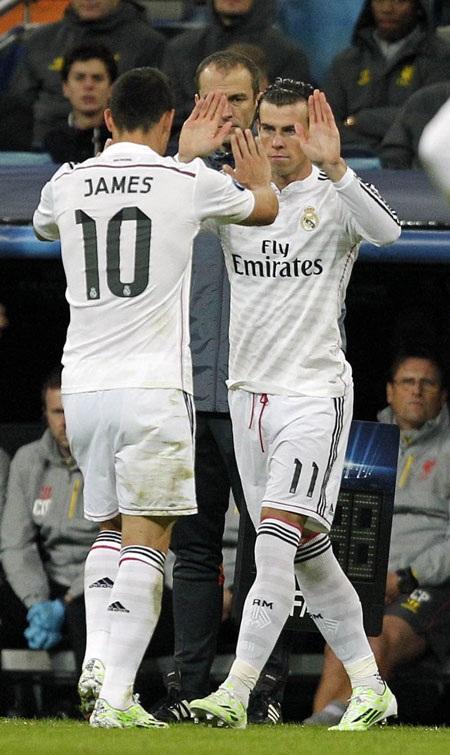 Bale vào sân ở 30 phút cuối và thi đấu khá năng nổ