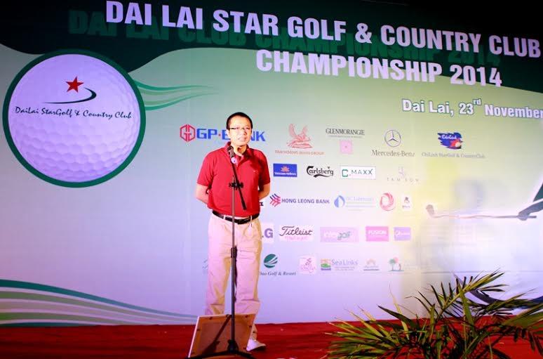 Phó Tổng Giám đốc Tập Đoàn Tân Hoàng Minh - Ông Trần Như Trung phát biểu tại Lễ trao giải