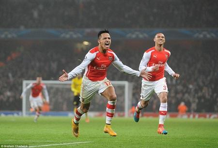 Arsenal giành vé đi tiếp sau chiến thắng trước Dortmund