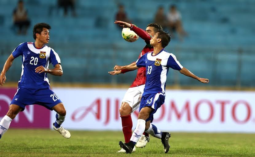 Indonesia đã chơi lấn lướt hoàn toàn trước Lào - Ảnh: Gia Hưng