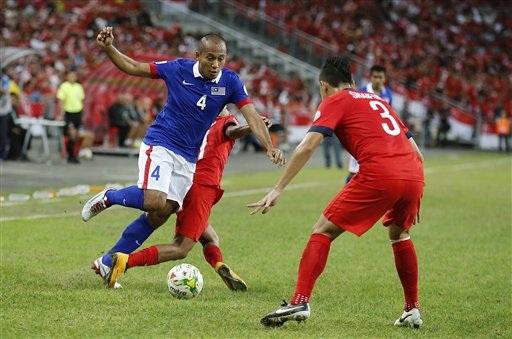Singapore tưởng như đã cầm vé bán kết với bàn gỡ hòa ở phút 84