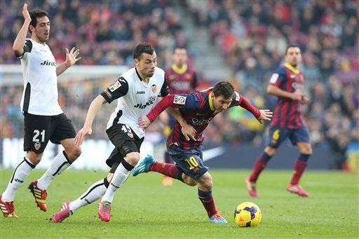 Messi đang thể hiện phong độ xuất sắc cùng Barcelona