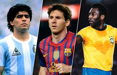 Nhiều ý kiến đánh giá Messi xuất sắc hơn cả Pele và Maradona
