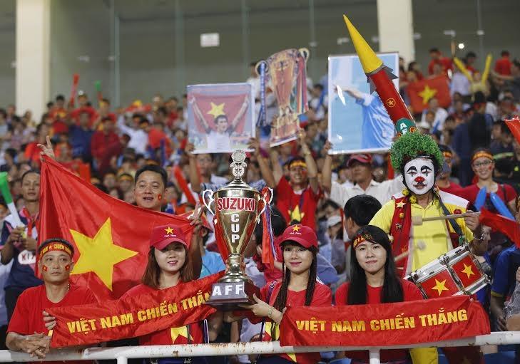 Rất đông các CĐV Việt Nam đã có mặt ở sân Mỹ Đình - Ảnh: Gia Hưng