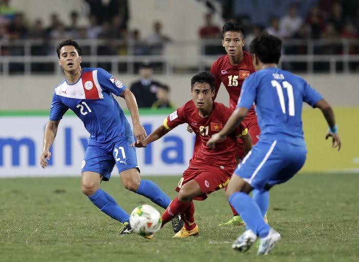 Vũ Minh Tuấn tỏa sáng với một bàn thắng tuyệt đẹp - Ảnh: Gia Hưng