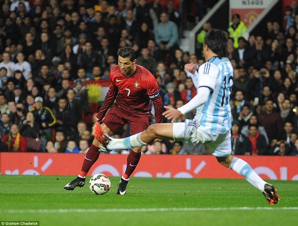 C.Ronaldo không để lại nhiều dấu ấn ở trận đấu này