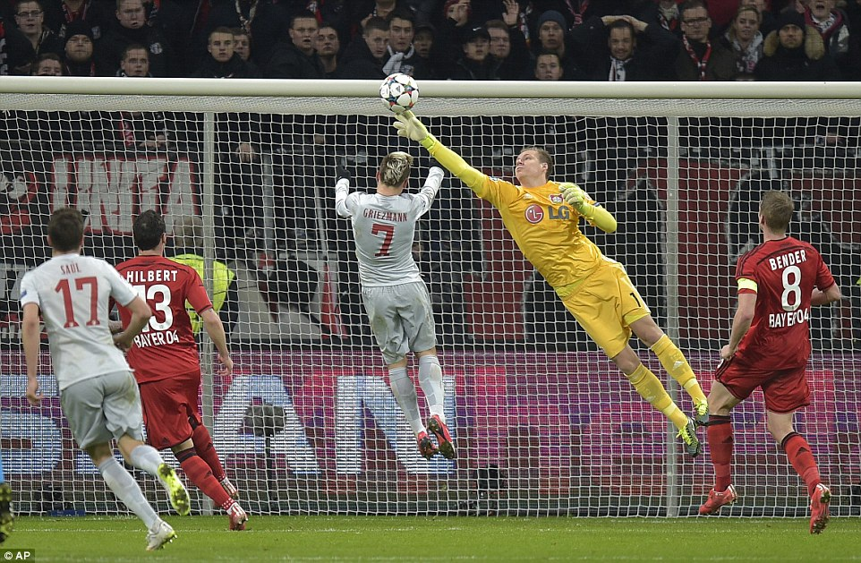 Atletico còn cơ hội quật ngã Leverkusen tại Vicente Calderon