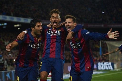 Barca đang thăng hoa với sự chói sáng của bộ ba Messi-Suarez-Neymar