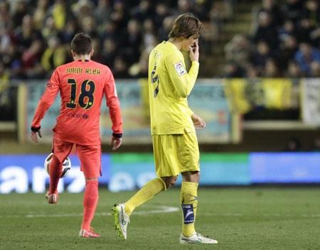 Nỗi thất vọng của các cầu thủ Villarreal