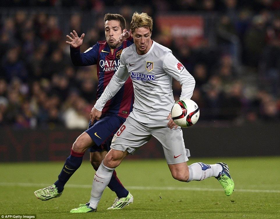 Torres không thể hiện được nhiều ở trận đấu này