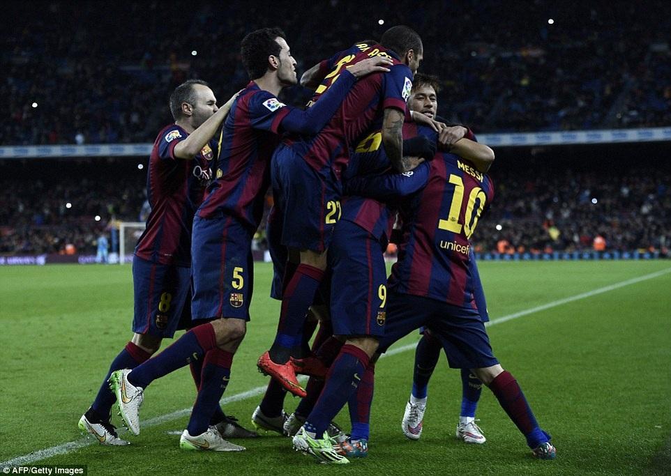 Barca đã có được lợi thế mong manh trước trận tứ kết lượt về tại Calderon