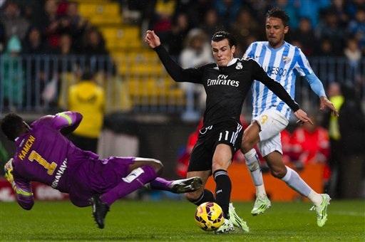 Bale từng ghi bàn vào lưới Malaga ở lượt đi