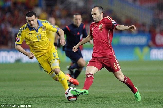Tây Ban Nha đã gặp nhiều khó khăn trong suốt trận đấu