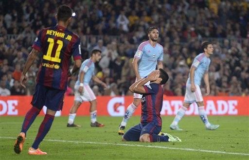 Barcelona từng thua đau đớn Celta 0-1 tại Nou Camp ở lượt đi