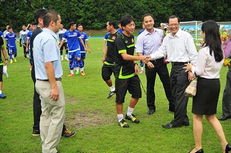 Đại sứ Tiến Minh chúc toàn đội thi đấu tốt ở SEA Games 28