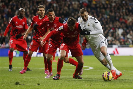Real lần lượt phải gặp Sevilla và Valencia, hai đội tranh vé dự Champions League