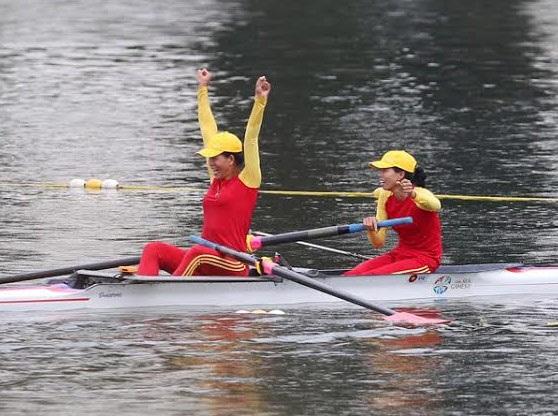 Lê Thị An và Phạm Thị Huệ giành HCV Rowing thuyền đôi nữ 1000m