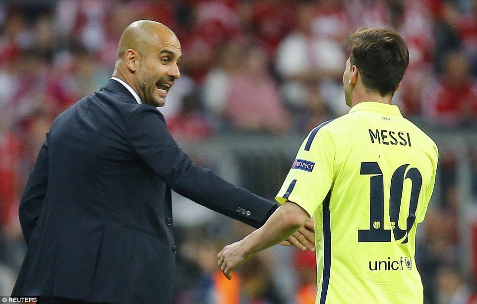 Guardiola có lần thứ hai tái ngộ học trò cũ Lionel Messi