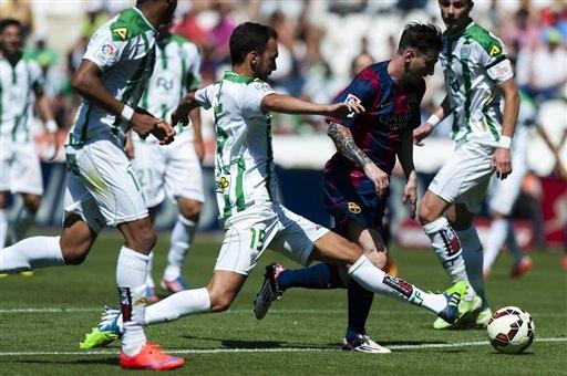 Messi đã có 40 bàn thắng ở La Liga, hơn C.Ronaldo 1 bàn