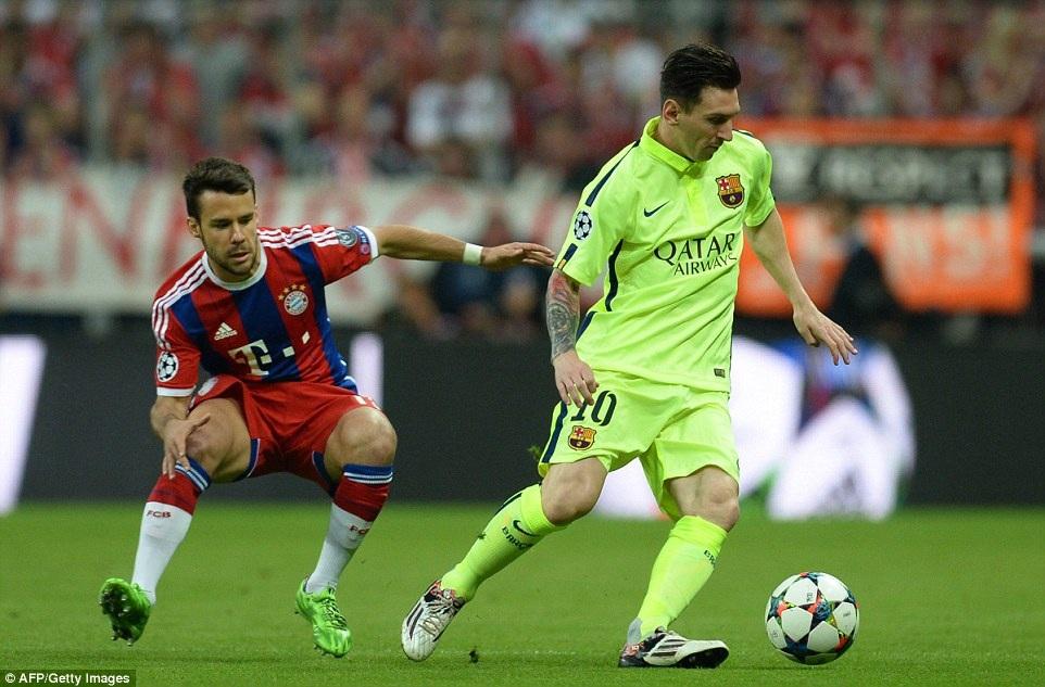 Messi không thể hiện được nhiều ở trận đấu này