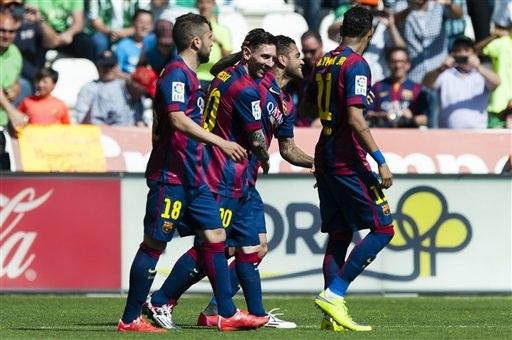 Barcelona đã có chiến thắng đầy tưng bừng tại Nuevo Arcangel