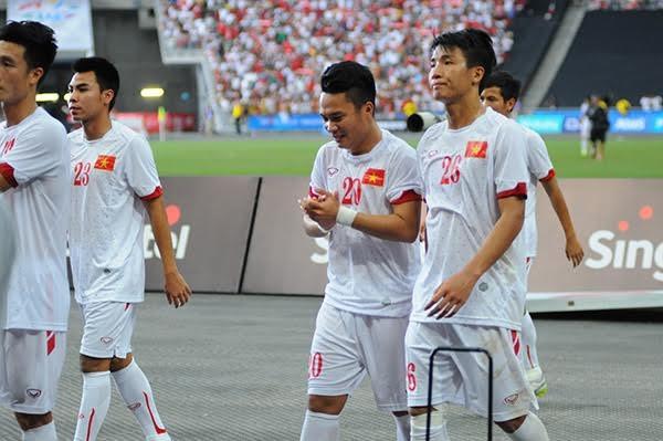 Nỗi buồn thua trận của các cầu thủ U23 Việt Nam