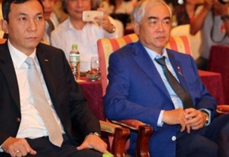 Chủ tịch Lê Hùng Dũng và phó chủ tịch Trần Quốc Tuấn