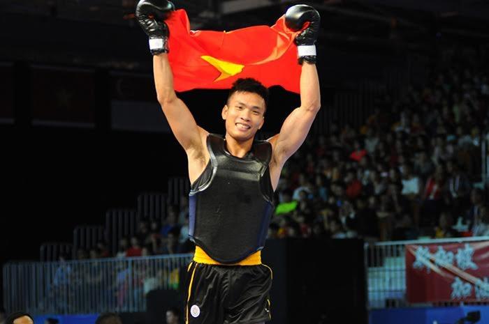 Nguyễn Văn Tài xuất sắc giành HCV wushu ở nội dung tán thủ