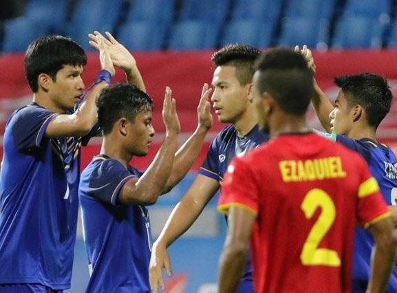 U23 Thái Lan đã giành 3 điểm đầy khó khăn