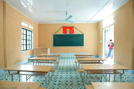 Lớp học mới khang trang sẽ mang đến những trải nghiệm học tập tốt hơn cho các em