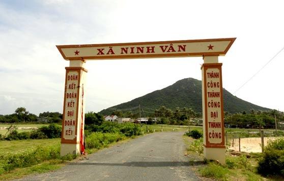 Cổng dẫn vào xã Ninh Vân, Ninh Hòa, Tỉnh Khánh Hòa.