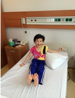 Nụ cười rạng rỡ đã trở lại trên gương mặt cô bé Nhật Lam