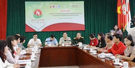 Toàn cảnh buổi họp báo triển khai chiến dịch khám chữa bệnh nhân đạo