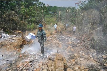 Hiện trường vụ tai nạn máy may ở Hòa Lạc ngày 7.7. Ảnh: Thành An