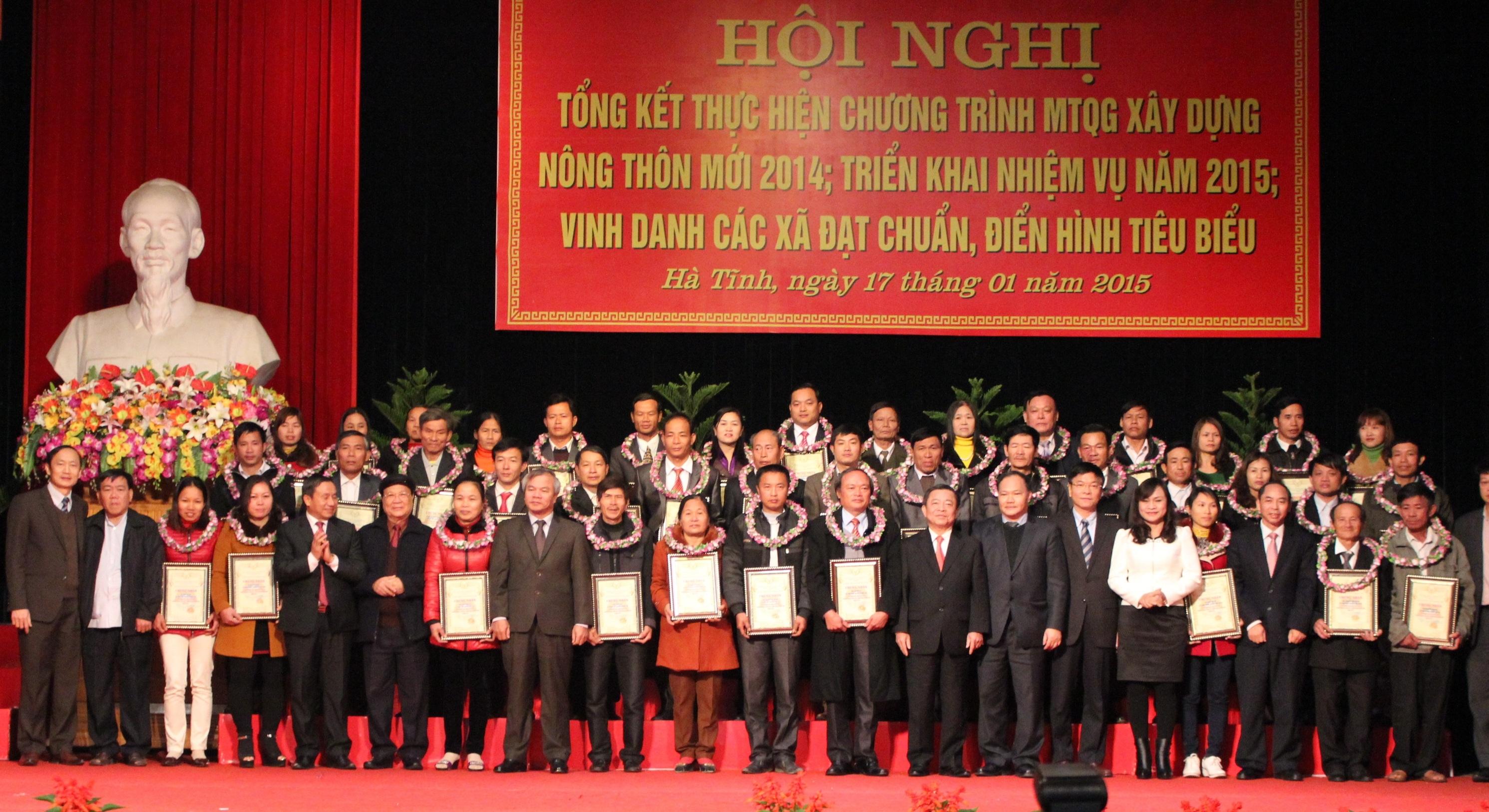 Năm 2014, Hà Tĩnh có 19 xã về đích nông thôn mới nâng tổng số xã đạt chuẩn lên 26