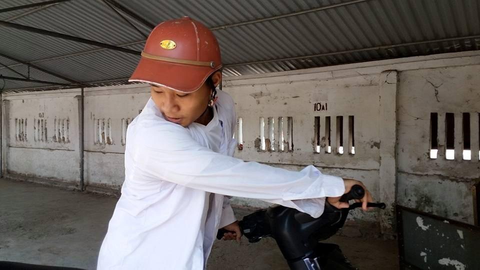 Em Nguyễn Văn Hoàng - Thí sinh duy nhất tại HĐT trường THPT Phan Đình Phùng.