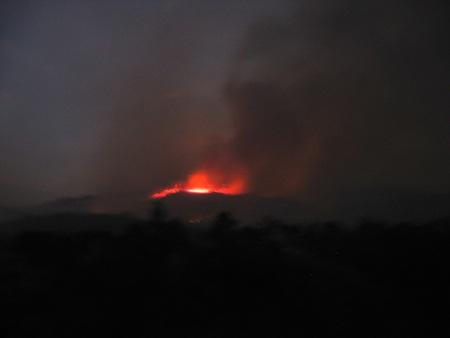 Đám cháy tại một số tiểu khu thuộc rừng phòng hộ Bắc Biển Hồ