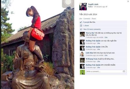 Bức ảnh phản cảm được đăng trên facebook bị ném đá dữ dội