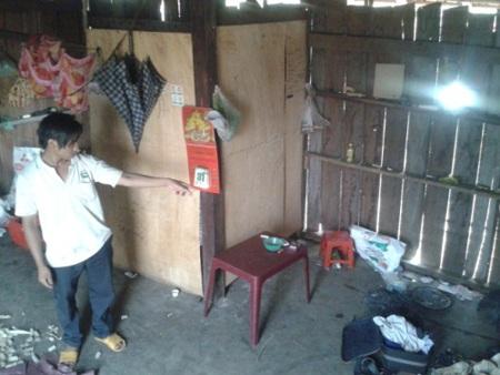 Ngôi nhà xảy ra vụ án mạng chồng giết vợ tại huyện Cư Mgar