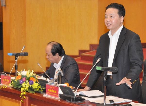Bộ trưởng Trần Hồng Hà giải thích về việc chưa công khai thông tin xử lý cán bộ liên quan đến sự cố Formosa xả thải.
