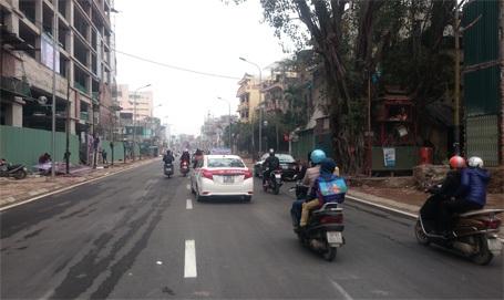 Các phương tiện lưu thông thông thoáng trên đường Trần Phú - Kim Mã