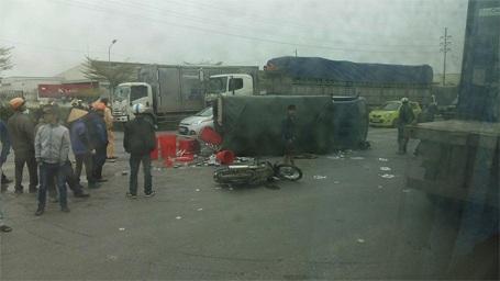 Hiện trường vụ tai nạn (ảnh otofun)