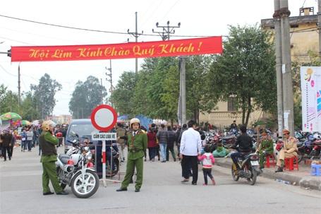 Công tác an ninh đã được thắt chặt, nhằm đảm bảo cho hội Lim diễn ra an toàn