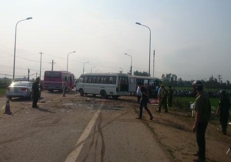 Đã xác định được 5 nạn nhân tử vong trong vụ tai nạn xe khách...