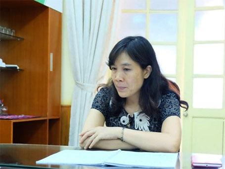 Cô Lê Thị Mỹ Hạnh trao đổi với PV Dân trí