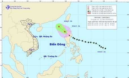 Bão Maysak suy yếu thành áp thấp nhiệt đới và đi vào biển Đông