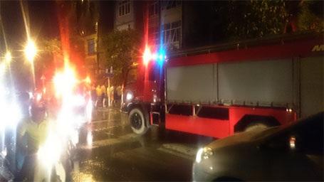 2 xe chữa cháy được điều đến hiện trường