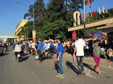 Đường Nguyễn Trãi khá thông thoáng vào đầu giờ sáng nay.