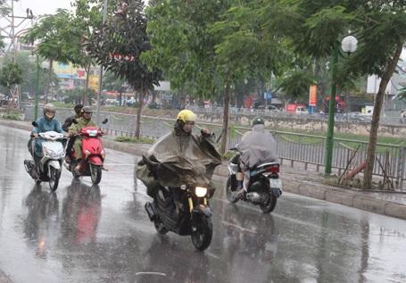Chiều tối và đêm mai, miền Bắc và Thủ đô Hà Nội sẽ xuất hiện mưa giông